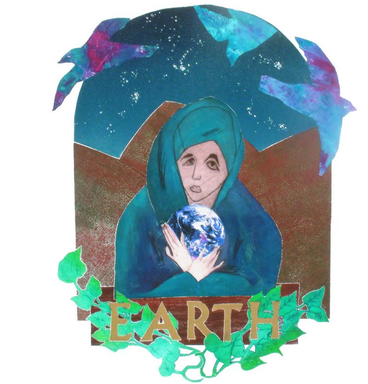 "leni fried art print ""Earth"""