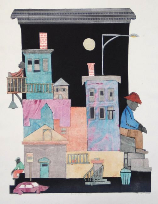saint felix street art print by leni fried